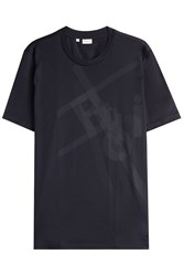 Brioni Printed Cotton T Shirt Black