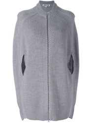 Mcq By Alexander Mcqueen Cocoon Style Knit Jacket Grey