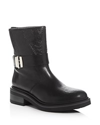 Furla Club Biker Boots Black Gold