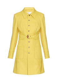 Red Valentino Belted Twill Coat Yellow