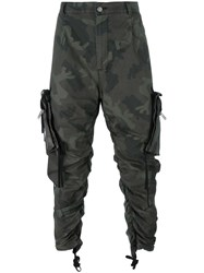 424 Fairfax Twill Camouflage Cargo Trousers Green