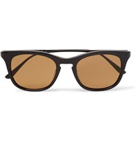 Bottega Veneta D Frame Acetate Sunglasses Black