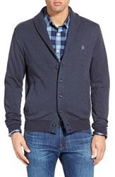Original Penguin Nep Shawl Cardigan Sweatshirt Dark Sapphire