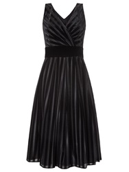 Ariella Pixie Velvet Stripe Prom Dress Black