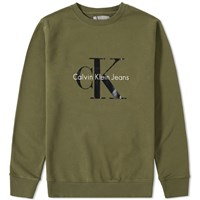 Calvin Klein Ck Reissue Crew Sweat Green
