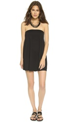 Susana Monaco Tube Drape Tunic Dress Black