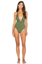 L Space Pamela Classic One Piece Green