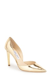 Jimmy Choo 'Darilyn' D'orsay Pointy Toe Pump Women Gold Leather