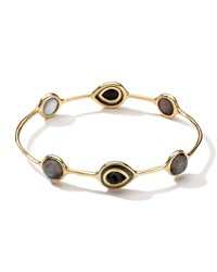 Ippolita 18K Rock Candy Ondine Black Shell And Onyx Doublet Bangle Women's