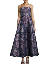 Creatures Of The Wind Floral Burst Strapless Bustier Ball Gown Lavender Multi