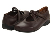 Wolky Passion Cafe Smooth Leather Women's Hook And Loop Shoes Brown