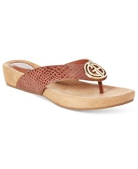 Giani Bernini Racchel Footbed Flip Flop Sandals Only At Macy's Women's Shoes Nut Croco