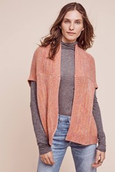 Anthropologie Adroit Cashmere Cardigan Red Motif