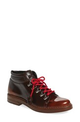 Tod's Women's 'Gomma' Lace Up Hiking Boot Brown Leather