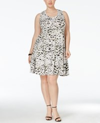 Styleandco. Style And Co. Plus Size Printed Sleeveless Swing Dress Only At Macy's Animal Ika