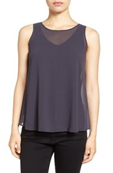 Nic Zoe Women's 'Sheer Collection' Chiffon Overlay Top Japanese Violet