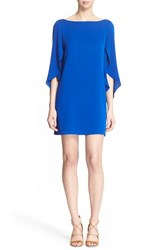 Women's Milly Butterfly Sleeve Stretch Silk Crepe Dress Cobalt