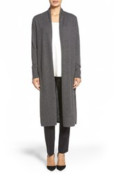 Women's Nordstrom Collection Open Front Cashmere Duster Cardigan Grey Stonehenge Heather