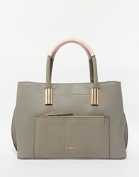Lipsy Textured Tote Bag In Khaki Green