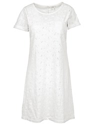 Fat Face Tenby Jersey Broderie Dress White