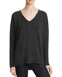 Velvet By Graham And Spencer Emerson Cashmere Sweater Charcoal Grey