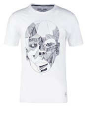 Only And Sons Onskody Fitted Print Tshirt White