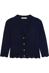 Vanessa Bruno Feeling Wool And Cashmere Blend Cardigan Navy