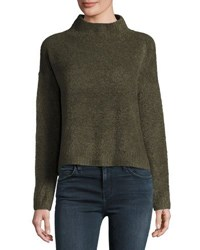 Lisa Todd Mock Neck Pullover Sweater Olive