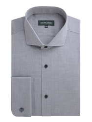 Racing Green Leadenhall Herringbone Easy Care Shirt Black