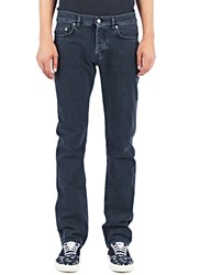 Saint Laurent Mens Straight Fit 5 Pocket Low Waisted Jeans Blue