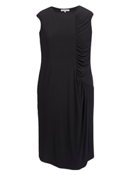 Chesca Ruched Detail Jersey Dress Black