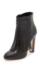 Maiyet Blake Fringe High Heel Booties Black