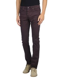 Jaggy Trousers Casual Trousers Men Deep Purple