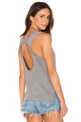 Bobi Speckled Jersey Open Back Tank Grey