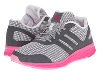 Adidas Mana Bounce W Vista Grey Crystal White Shock Pink Women's Running Shoes Gray