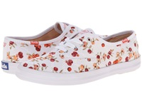 Keds Taylor Swift's Champion Eyelet Berry White Red Women's Dress Flat Shoes
