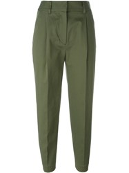 3.1 Phillip Lim Cropped Trousers Green