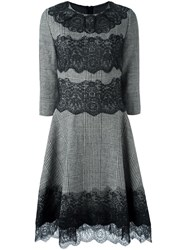 Ermanno Scervino Lace Hem Dress Nude And Neutrals