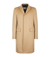 Burberry Wool And Cashmere Coat Male Brown