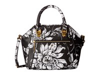 Elliott Lucca Faro City Satchel Black White Wildflower Satchel Handbags