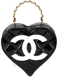 Chanel Vintage Heart Tote Black