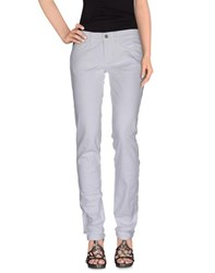 Twin Set Simona Barbieri Denim Denim Trousers Women White