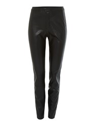Hugo Boss Faux Leather Trousers Black