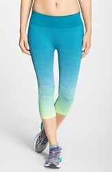 Women's Brooks 'Streaker' Capri Leggings Nightlife Kale