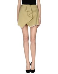 Uniqueness Mini Skirts Military Green