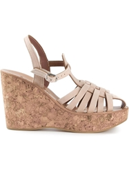 K. Jacques Wedge Sandals Nude And Neutrals