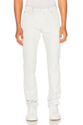 Maison Martin Margiela Stone Wash Bleach And White Paste Slim Fit Jeans In Blue