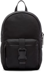 Christopher Kane Black Nylon Buckle Backpack