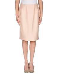 Moschino Knee Length Skirts Coral