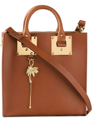 Sophie Hulme Square Tote Brown
